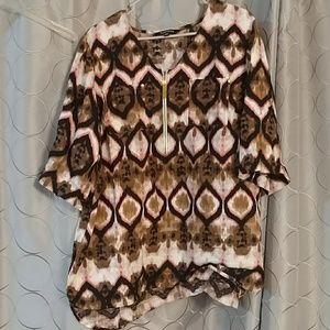 Ellen tracy xl two button blouse